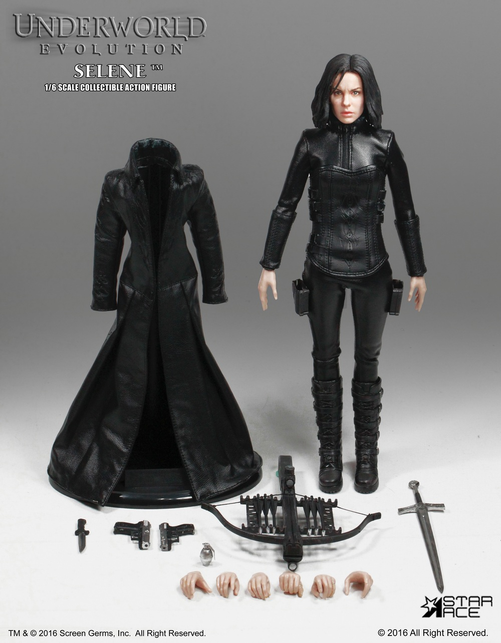 1:6 scale Super flexible Female figure 12 action figure doll Collectible model toy Underworld: Evolution Selene Kate Beckinsale 1 6 scale model metal gear solid v the phantom d dog diamond dog about 23cm collectible figure model toy gift
