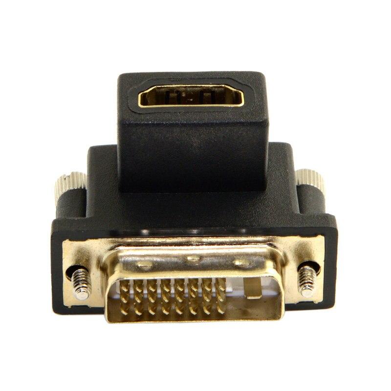 90 graden HDMI Female naar DVI Male adapter - Computer kabels en connectoren - Foto 4