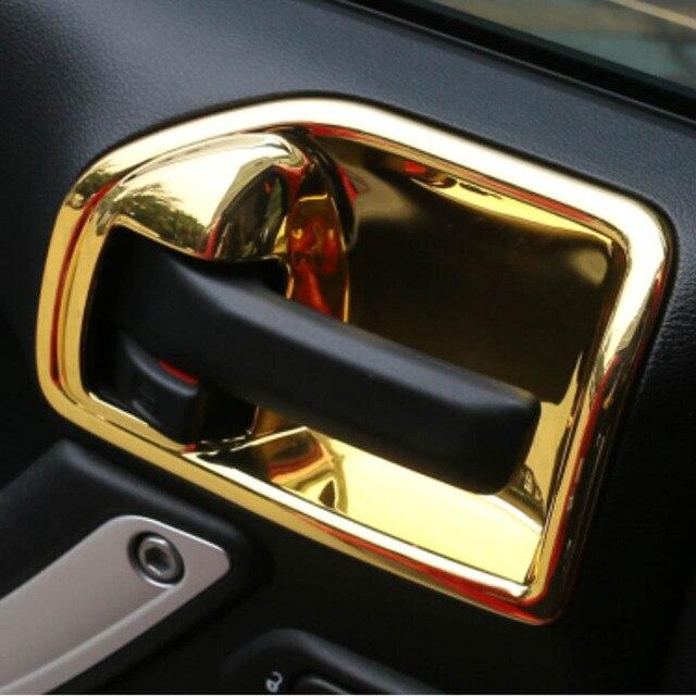 Marvelous Inside Door Handle Bowl Wrist Decorative Protective Cover Sticker Trim For  Jeep Wrangler Compass Patriot Interior