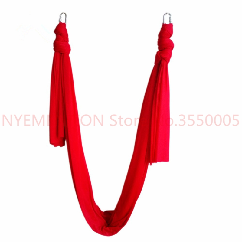6meter length Latest Multifunction flying Yoga Hammock Swing Trapeze Anti-Gravity Inversion Aerial Traction Device 1pcs leisure decompression hammock inversion trapeze anti gravity aerial traction yoga gym swing hanging daisy chain carabiners