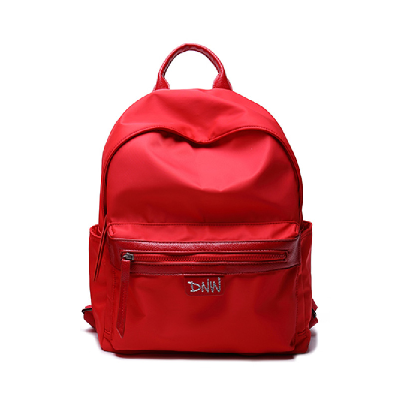 2017 new Korean version All-match leisure Red shoulder backpack Student campus bag female Oxford cloth BackpackS Waterproof X207 2017 fashion women waterproof oxford backpack famous designers brand shoulder bag leisure backpack for girl and college student