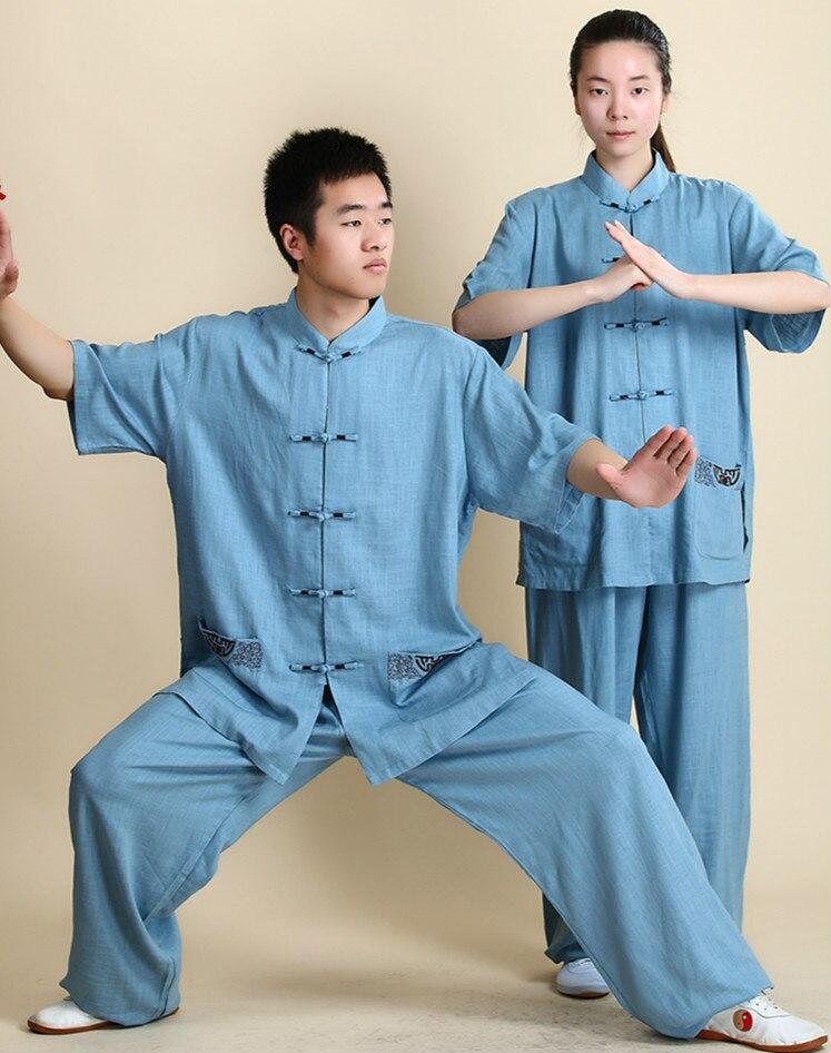 Униформа Тай Чи, женская и мужская одежда, униформа кунг фу, костюм для боевых искусств, униформа для прогулок на открытом воздухе, утренние спортивные костюмы|Наборы| | АлиЭкспресс