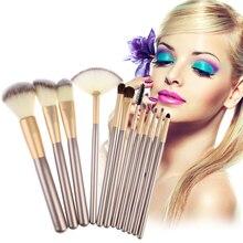 12pcs/18pcs/24pcs Professional Cosmetic Makeup Powder Blush Eyeshadow Eyeliner Lip Brush Set With Leather Bag