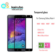 By DHL 100pcs 2.5D Tempered Glass For Samsung Galaxy Note 4 N910F N910A N910P Screen Protector Explosion Proof Protective Film