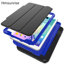 Folding Flip TPU Case for Samsung Galaxy Tab A 10.1 2016 T580 T585 T580N T585N Kids Shockproof Heavy Duty Full Protective cover