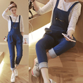 M-4XL Mulheres Blue Jeans Macacão Macacão Jeans para Grávidas Roupas de Maternidade Solta Plus Size Moda Jeans Macacões Calças Jardineiras