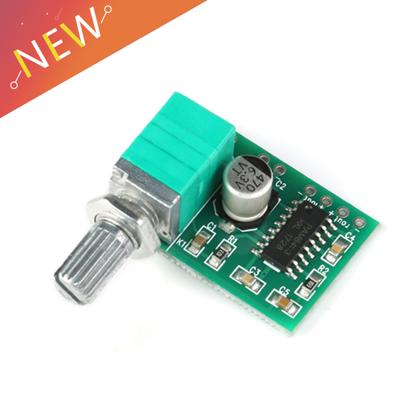 PAM8403 5V Power Audio Digital Amplifier Board With Switch Potentiometer Can Be USB Powered,2 Channel 3W W Volume Control