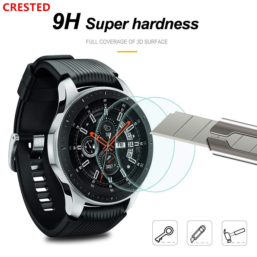 Gear S3 Glass For Samsung Galaxy Watch 46mm 42mm Gear S3 Frontier S 3 S2 Sport Classic Screen Protector 9H 2.5D Tempered Glass