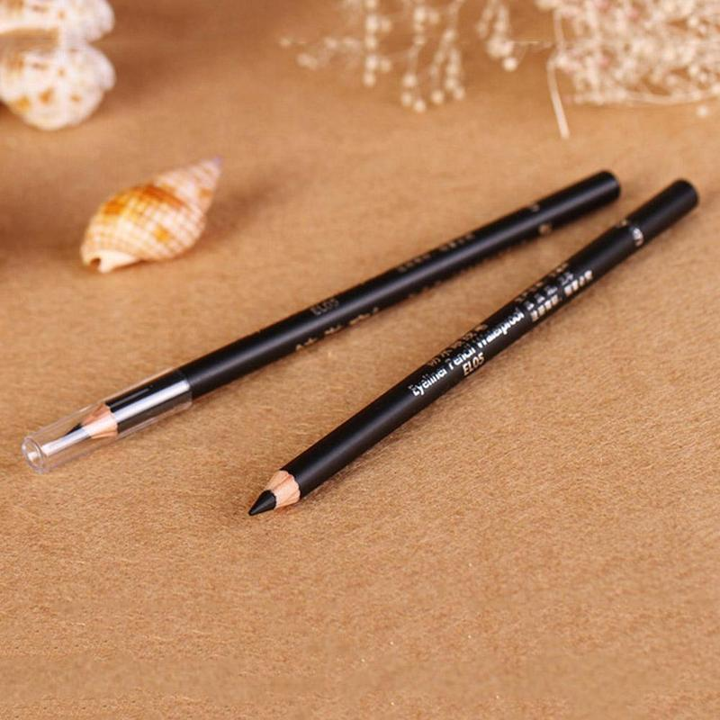2Pcs Black EyeLiner Pencil Smooth Waterproof Cosmetic Beauty Makeup Tools Eyeliner Pencil