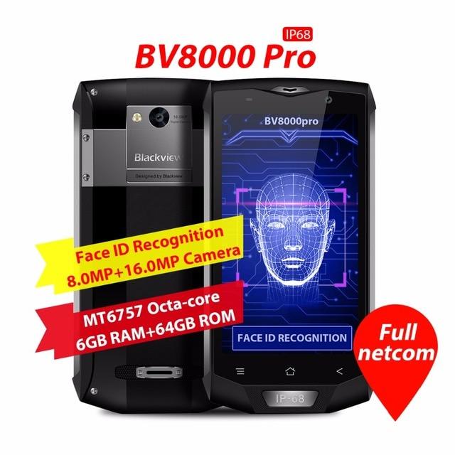 Blackview bv8000 Pro 4 г мобильный телефон 5.0 дюймов fhd mtk6757 Octa core android 7.0 6 ГБ Оперативная память 64 ГБ встроенная память 16mp Водонепроницаемый IP68 Wi-Fi GPS