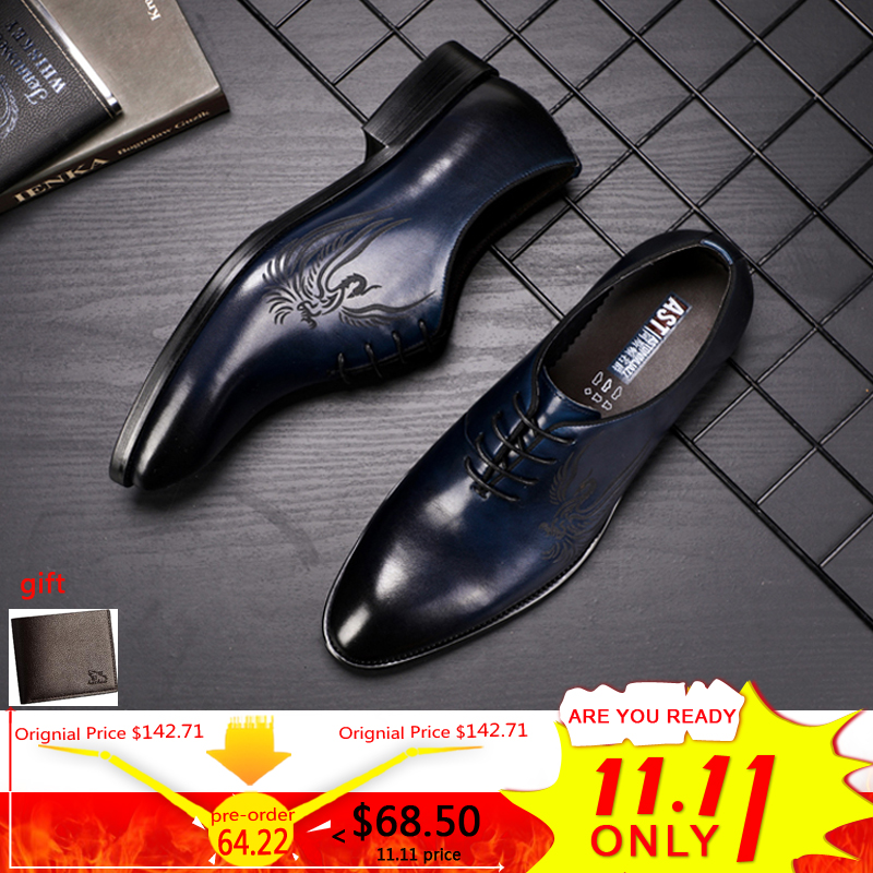 Men's Leather Casual Shoe Business Men Genuine Leather Shoes Men Lace Up Classic Oxford Shoes For Men Black Formal Shoe Big Size все цены