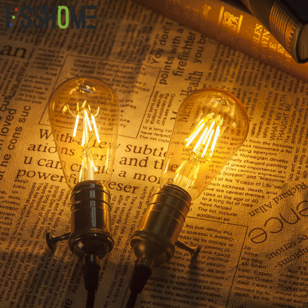 [VSSHOME] LED Bulbs Glass ST64 4W 6W 8W Amber Color / Clear Color Edison Light Bulb Home Indoor Lighting e27 led filament edison bulb indoor led clear glass bulb t45 st58 st64 a19 g80 g95 g125 2w 4w 6w 8w bombillas led ac110 220v