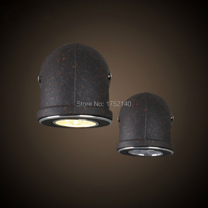 7w fashion led wall lamp  wrought iron diameter 14cm water pipe wall lamp vintage industrial retro balcony stair lighting|water pipe wall lamp|led wall lamp|stair light - title=
