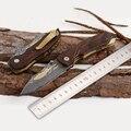 Freies verschiffen Die sharp Falten Taschenmesser Mini Taktische Jagdmesser Damaszener Stahl Exquisite messer-in Messer aus Werkzeug bei
