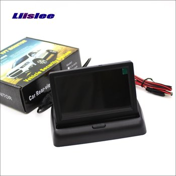 Liislee For Mercedes Benz C W203 W204 Foldable Car HD TFT LCD Monitor Screen Display NTSC PAL Color TV System image