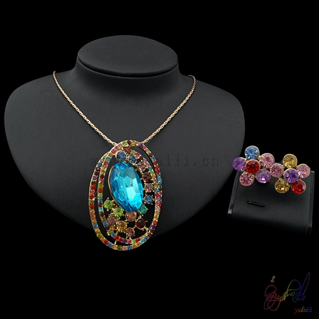 Yulaili Free Shipping 2017 High Quality Ladies Costume Fashion Zircon Two Jewelry SetsYulaili Free Shipping 2017 High Quality Ladies Costume Fashion Zircon Two Jewelry Sets