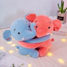 New Creative Hug Couple Elephant Plush Toys Stuffed Animal Soft Doll Toy Children Valentines Day Gift