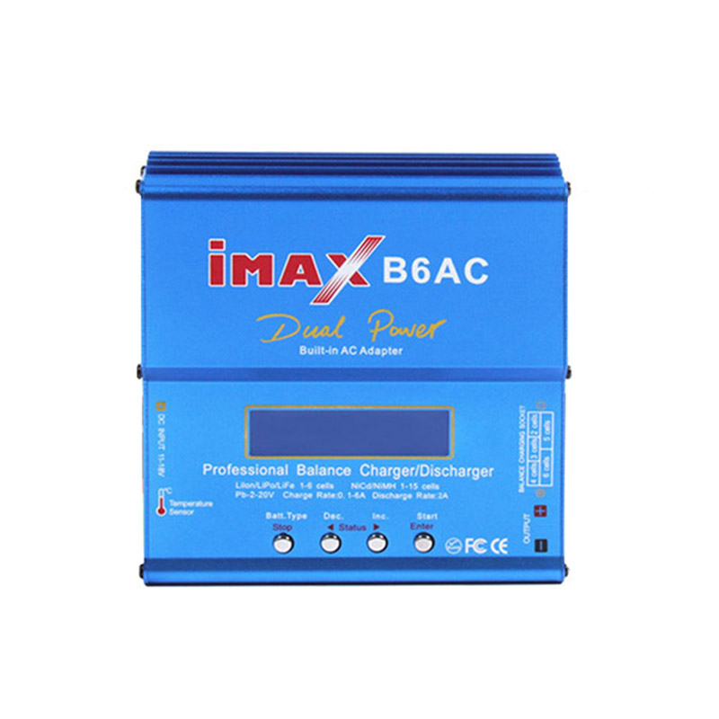 IMAX B6AC 80W RC Lipo Battery Balance Charger Li-ion LiFe Nimh Battery Balancer with Built-in AC Adapter for RC Drone Car Boat battery charger imax b6ac b6ac lipo li ion life nimh nicad pb rc balance charger new free shipping