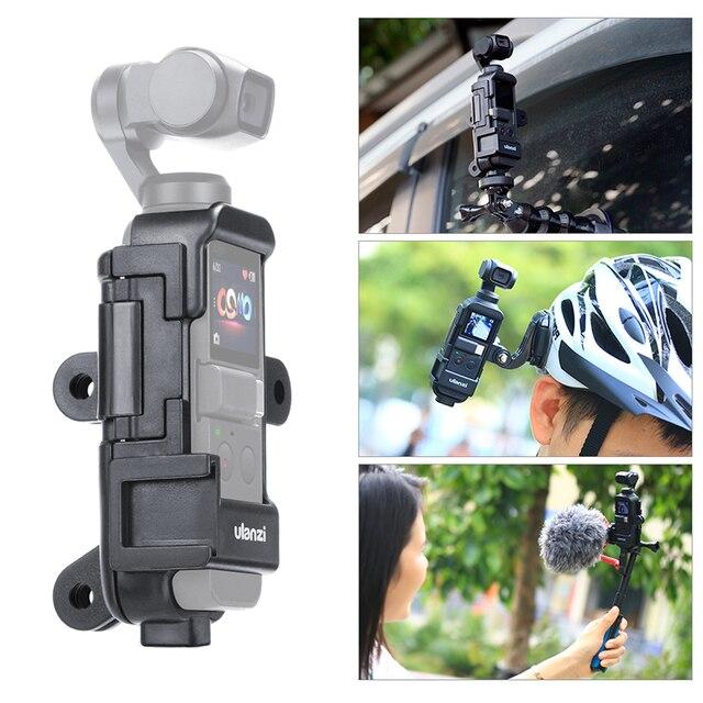 ULANZI OP 7 Vlog Расширенный корпус чехол для DJI Osmo Карманный, клетка w микрофон Холодный башмак 3 GoPro адаптер для мотоциклетного шлема