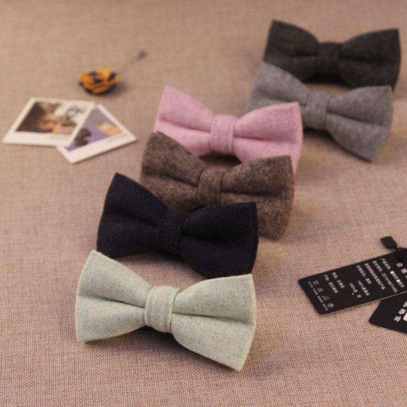 Fashion Designer New  Bow Tie Cravat For Men's Wedding Business Suits Solid Upscale Wool Bowtie Gravata 300pcs Fedex