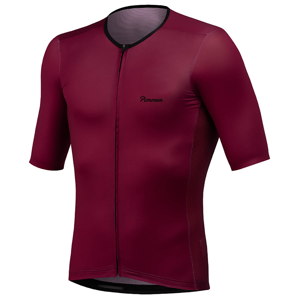Pimmer 2019 Newest Short Sleeve Cycling Jersey Short Sleeve Cycling Wear Italy Fabric With Best Quality Finish Red Gray
