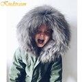 Kindstraum 2017 novas crianças outono inverno casacos meninas & meninos jaquetas jeans quentes crianças qualidade da marca de lã com capuz outwear, MC313