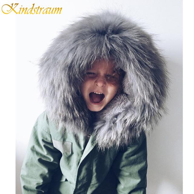 Kindstraum 2017 nuevos niños otoño invierno abrigos girls & boys warm chaquetas de mezclilla marca de calidad para niños de lana con capucha outwear, MC313