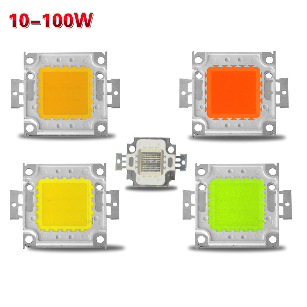 1pcs Diy 24x44mil Smd 10w 20w 30w 50w 100w High Power Led Cob Chip Bulb For Floodlight Spot Light Warm White/red/green/blue/rgb Light Bulbs