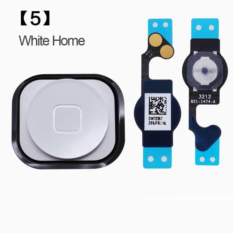 Przycisk Home z kablem Flex dla iPhone 5 5S przycisk Home Flex montaż wysyłka