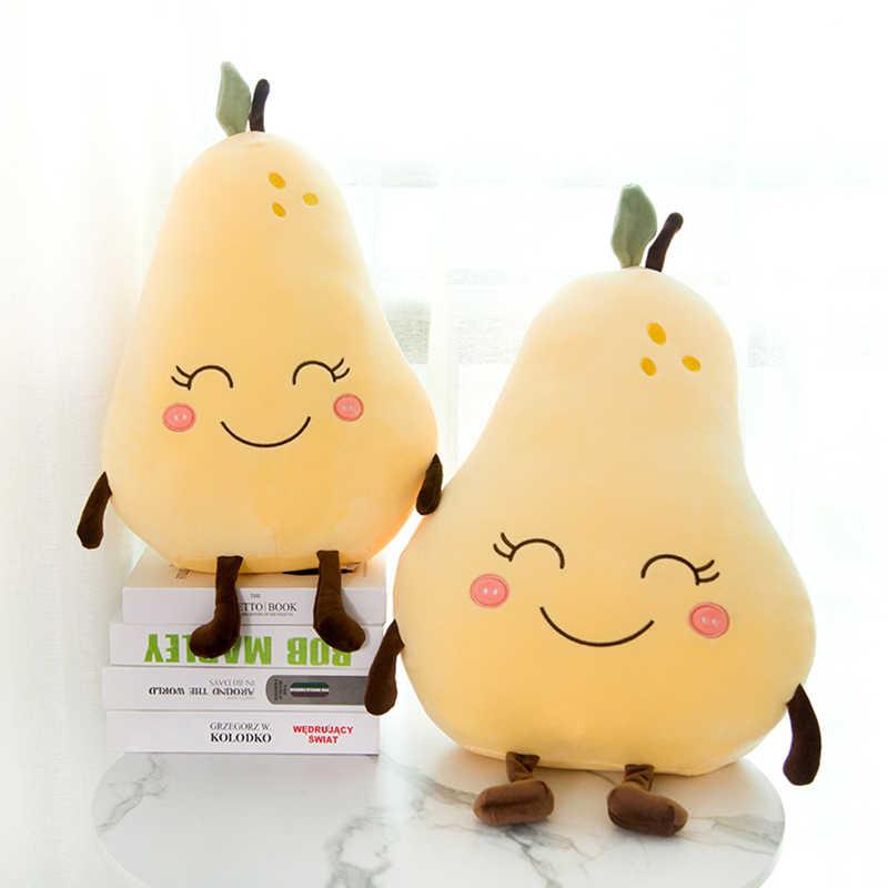 スイカイチゴ梨ぬいぐるみかわいい漫画かわいいフルーツぬいぐるみソフト少年少女クッション枕子供のための子供