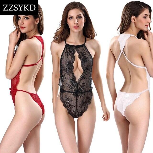 bccc34e20 Mulheres Sexy Lingerie de Renda Sono Vestido Noite Lingerie Para As Mulheres  Verão Plus Size Lingerie