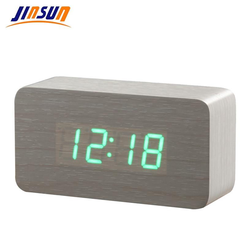 Reloj electrónico de escritorio JINSUN El mejor reloj de cabecera - Decoración del hogar