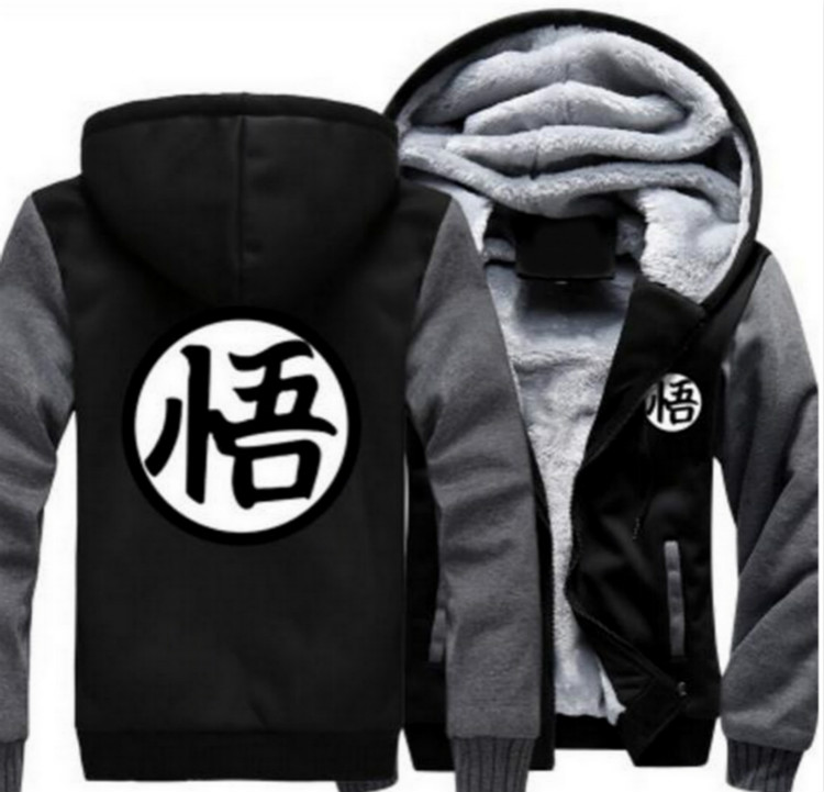 New European Men 's wonman Anime Seven Dragon Ball Sun Wukong Role - Play Jacket Hooded Jacket Sweater Hoodie