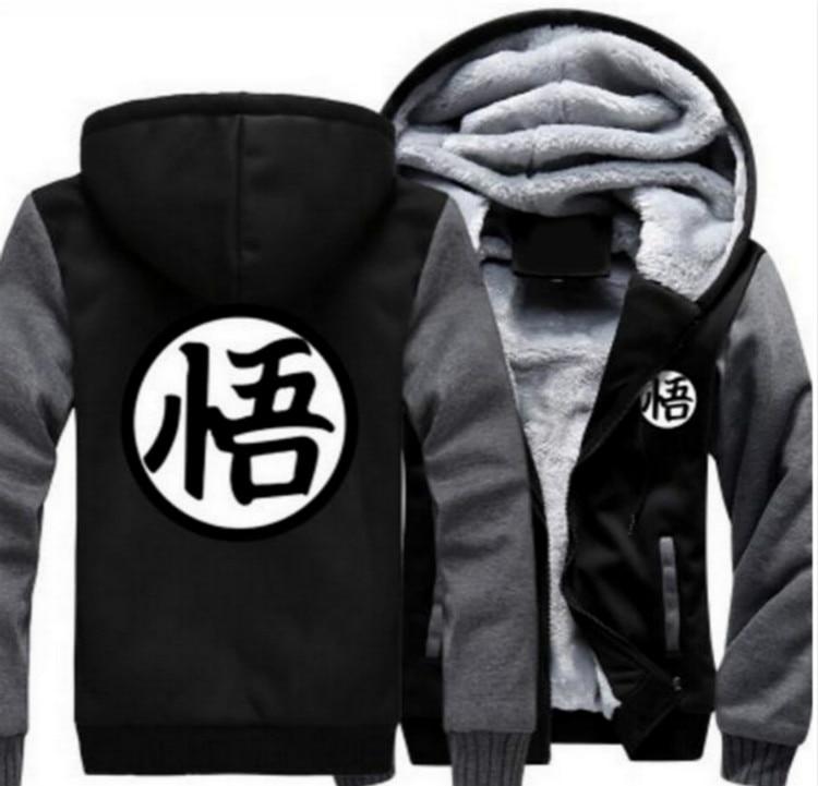 New European Men 's wonman Anime Seven Dragon Ball Sun Wukong Role - Play Jacket Hooded Jacket Sweater Hoodie