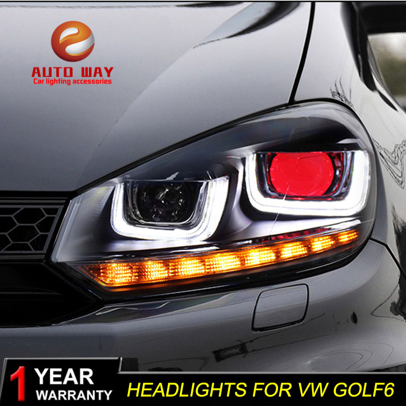 Car styling case for VW Golf6 MK6 2010-2014 Headlights Golf