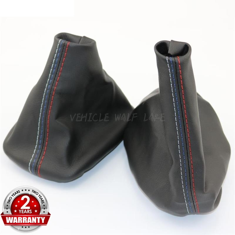 2Pc//Set Car Handbrake Gaiter Shift Boot Leather Boot For BMW 3 Series E36 E46 M3