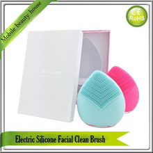 Electric Sonic Vibrating Deep Face Skin Pores Silicone Facial Makeup Blemish Black Spot Remover Face Cleansing Brush Massager