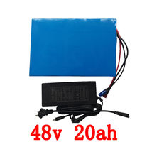Free Shipping 1pcs Lot 48V 20AH 1000W Lithium Ion Battery For Electric Bike With 54 6V