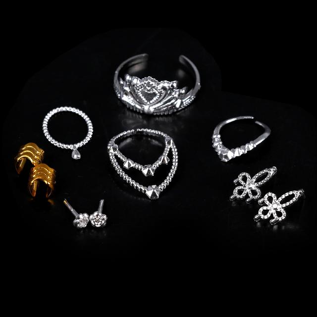 Crystal Plastic Jewelry For Dolls 10 pcs Set