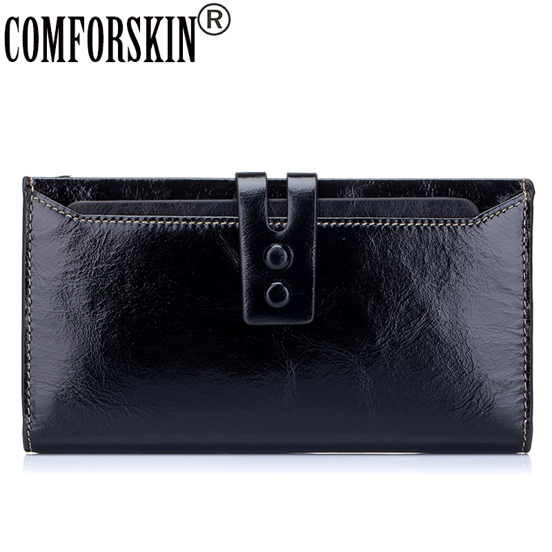 COMFROSKIN Billetera Mujer Luxurious European and American Style 100% Genuine Leather Women's Wallet Large Capacity Card Wallet