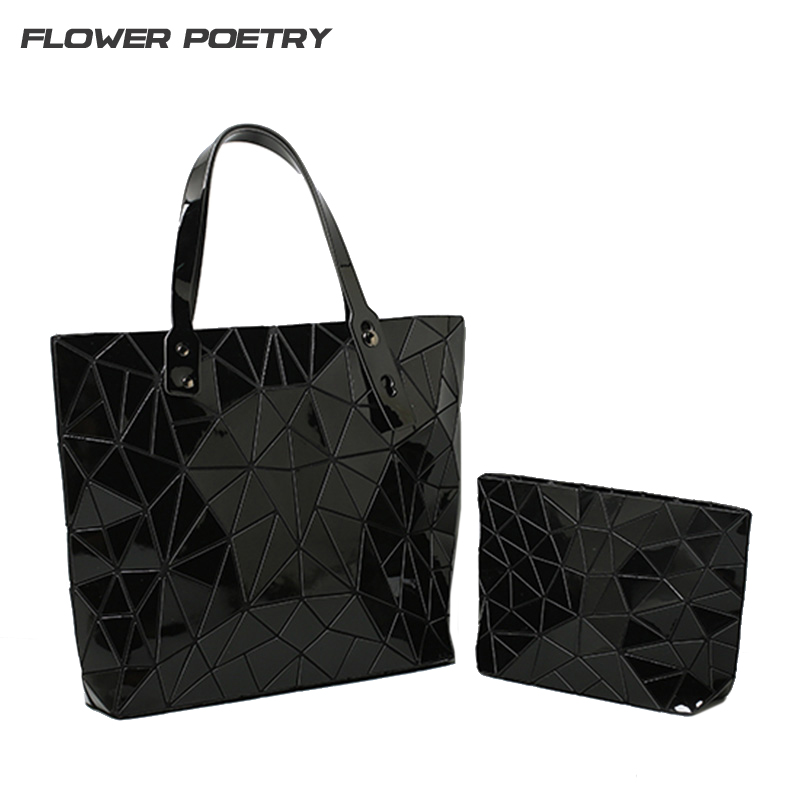 Women Bag Geometry Handbag Sequins Plain Folding bags Handbags Famous Brands Chain Messenger Crossbody Bag
