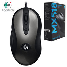 Logitech Original MX518 Legendary Gaming Mouse with HERO Sensor 16000DPI Classic Fever Level Mouse Legend Reborn for Mouse Gamer