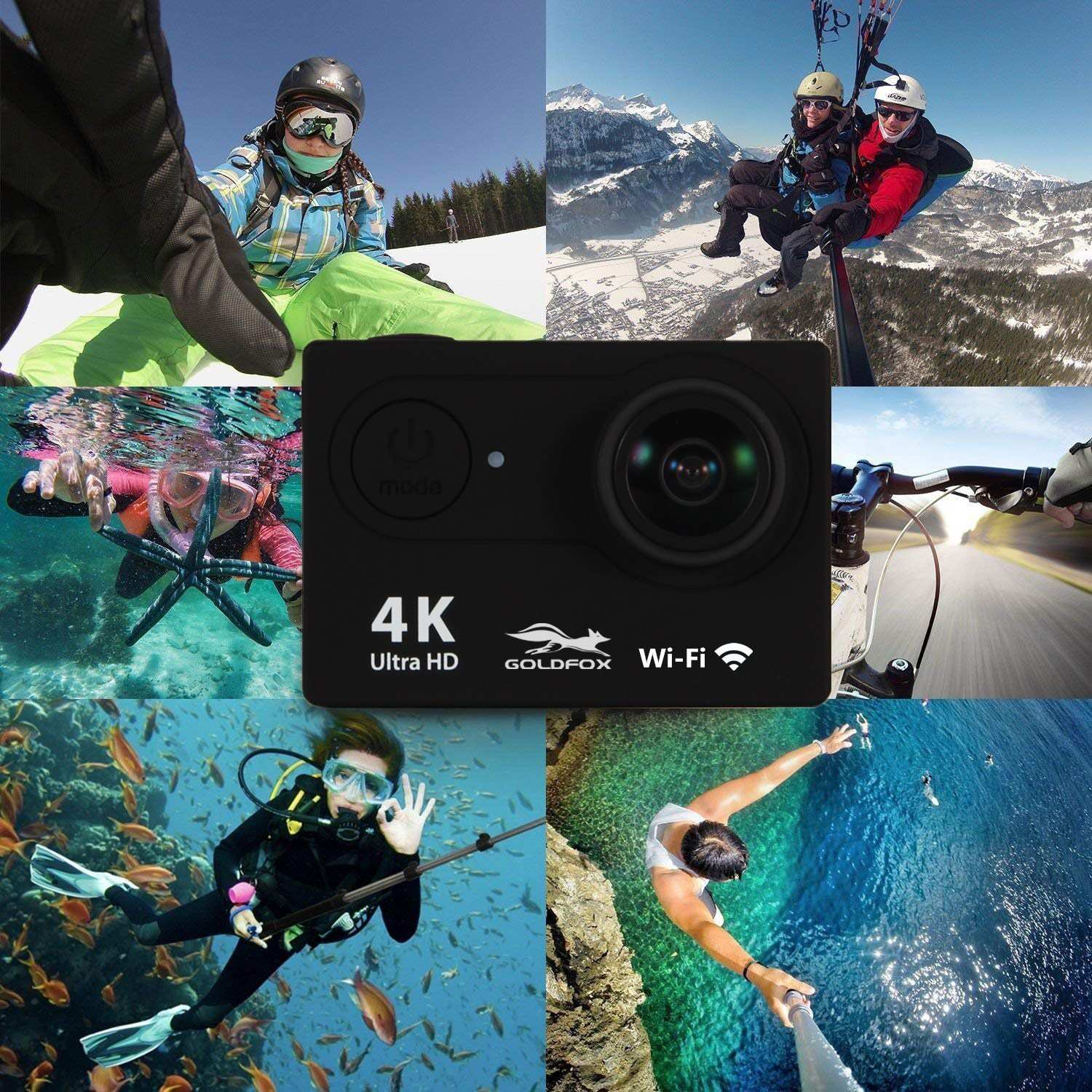 """Image 5 - H9 Action Camera Full HD 4K 25FPS WIFI 2.0"""" Screen Mini Helmet Camera Go Waterproof pro Sports DV Camera Support 32G TF Card-in Sports & Action Video Camera from Consumer Electronics"""