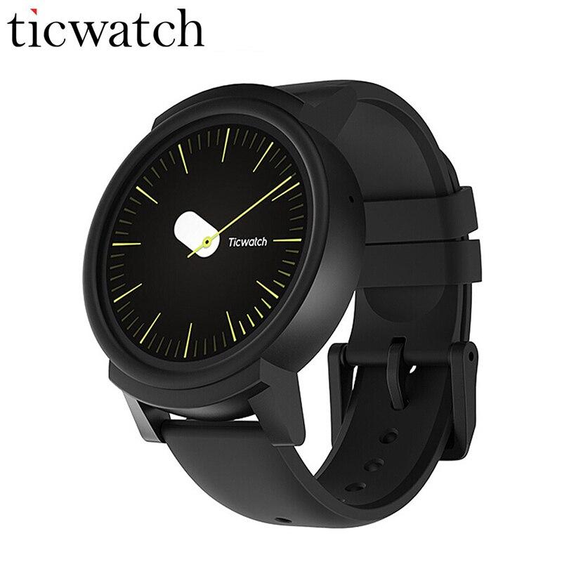 Original Ticwatch E Expres Smart Uhr Android OS Wear MT2601 Dual Core IP67 Wasserdichte Bluetooth 4,1 WIFI GPS Smartwatch Telefon