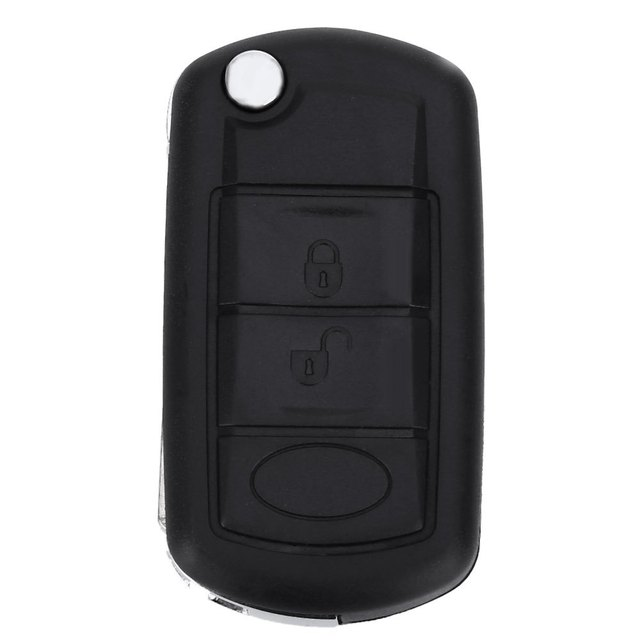 E31 Foldable Car Remote Key Holder Case Shell 3-button Protecting Cover Suitable for Land Rover With Rubber Texture Material