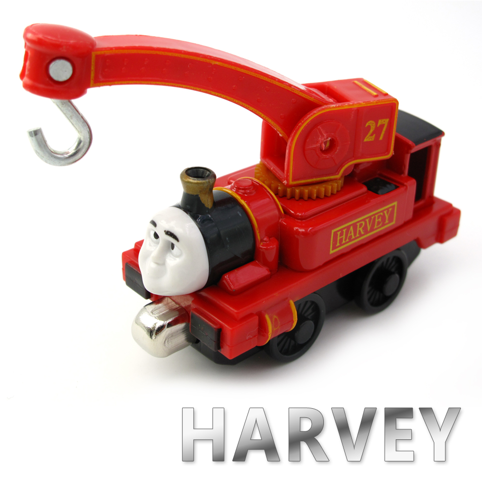 Diecasts Vehicles Thomas T066D HARVEY Thomas And Friends Magnetic Tomas Truck Car Locomotive Engine Railway Train Toys for Boys