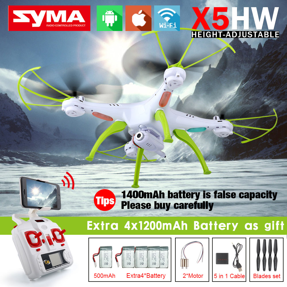 NEW Syma Xhw FPV RC Quadcopter Drone with WIFI Camera G Axis