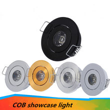 LED cabinet LED downlight embedded 1W 3W small ceiling downlight mini LED downlight AC85-265V driver(China)