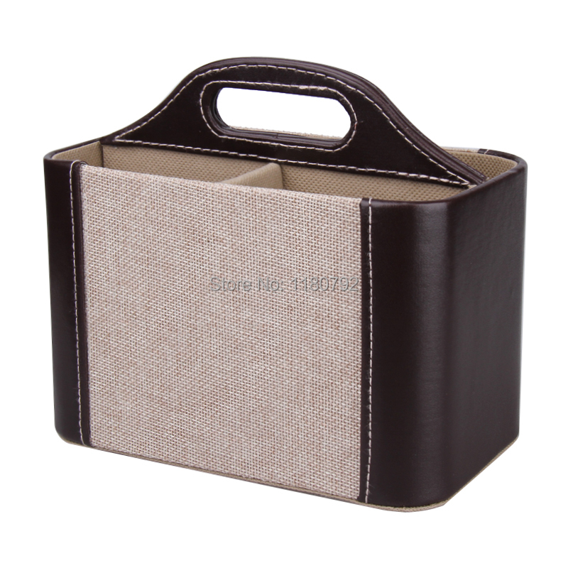[ROWLING] 2PC LOT Herringbone Tweed Storage Box TV CADDY Phone Holder Remote  Control Pen Organizer Desktop With Handle PW070 In Storage Boxes U0026 Bins  From ...
