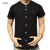 HIRIGIN 2017 Men S Fashion Baseball Jersey Short Sleeve T Shirt Plain Blank Color Team Sports